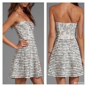 Parker Strapless Silk Dress SZ S